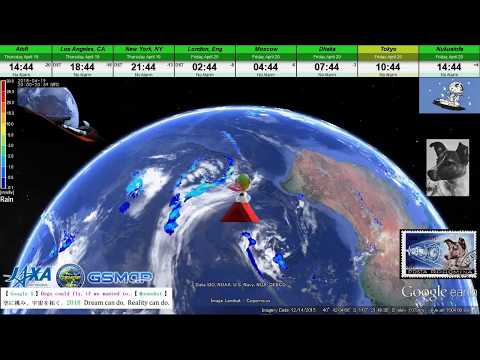 【 Google Earth × SNOOPY 】 World Weather Report / 20 April 2018 【 FLYING ACE × The Wind Rises 】