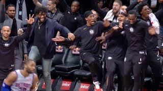 The BEST Nets Bench Reactions & Celebrations