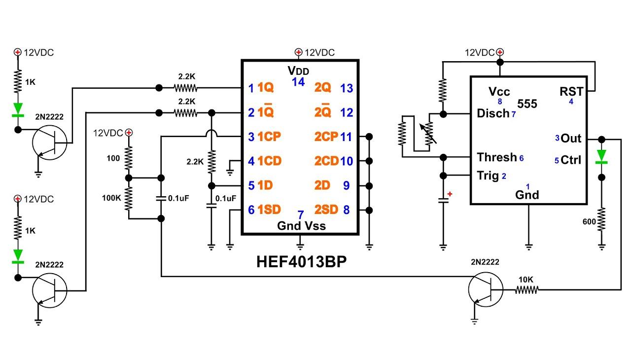 555 flipflop circuit