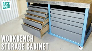 Making a Storage Cabinet for a Metalworking Workbench/Welding Table