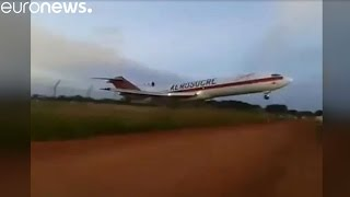 Cargo plane crashes just after takeoff, Colombia