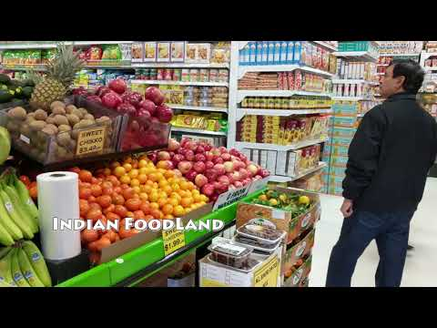 [4K] Grocery Shopping in Brampton Canada at Indian Foodland and Fortinos (Canadian Supermarket)