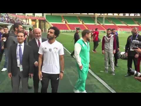 Mohammed Salah Arrives in Chechnya for World Cup