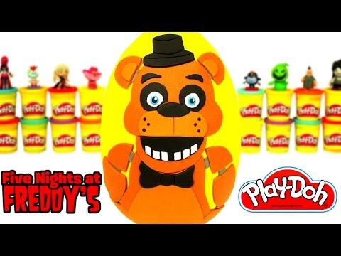Huevo Sorpresa Gigante de Five Nights at Freddys FNAF en Español de Plastilina Play Doh