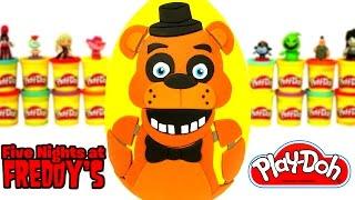 - Huevo Sorpresa Gigante de Five Nights at Freddys FNAF en Espaol de Plastilina Play Doh
