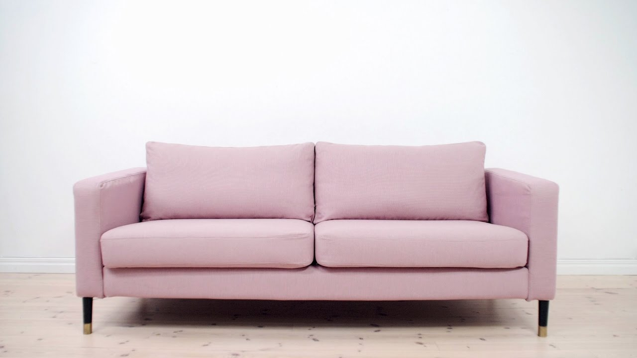 Easy style makeover for your ikea karlstad sofa with bemz youtube Ikea karlstad sofa