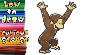 Curious George - Coloring For Kids - Coloring Pages For Children - Learn Drawing