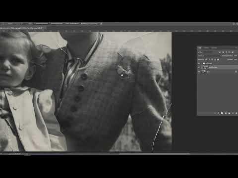Фотошоп. Восстановление старой фотографии.