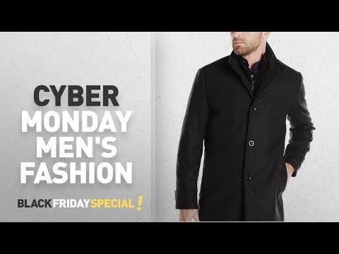 Cyber Monday Men's Wool & Blends Jackets Deals: Kenneth Cole New York Men's Wool-Blend Coat with Bib