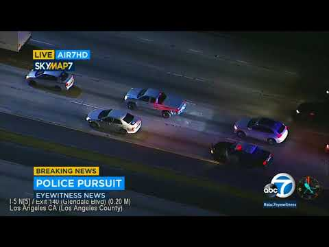 Driver leads authorities on chase in OC, LA counties | ABC7