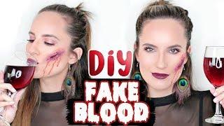 DIY EDIBLE FAKE BLOOD TUTORIAL!! SCARY Halloween Prank!