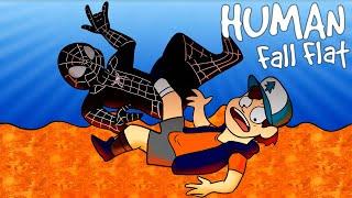 PODŁOGA TO LAWA W HUMAN FALL FLAT! - Admiros & Flothar