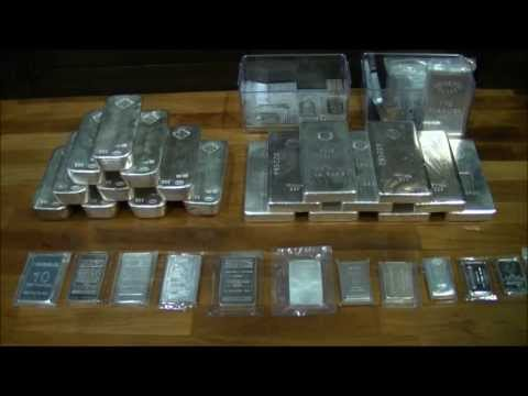 Silver bars - Johnson Matthey 100oz and others