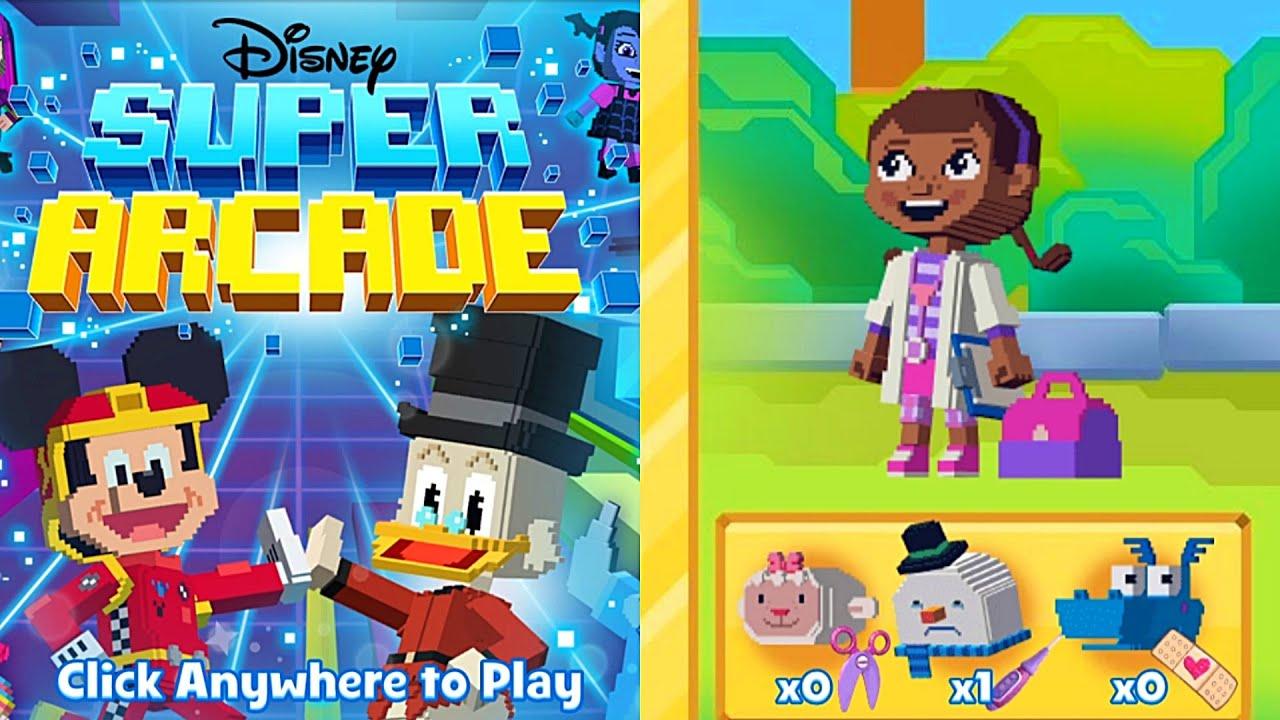 Doctora Juguetes Recolectando Instrumentos Médico Doctora En El Patio Juego Disney Super Arcade Youtube