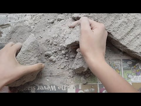 ASMR - Fast cement crumbling + sifting