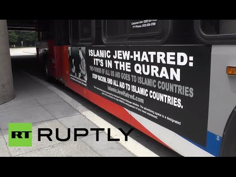 Video: 'Islamic Jew-hatred' ads with Hitler & Palestinian leader adorn DC buses