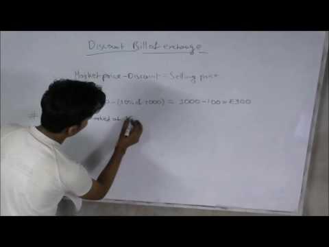 Bills of Exchange (Discount) Part I