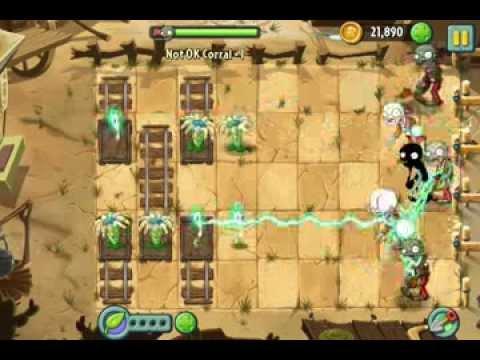 Plants vs  Zombies 2 Not OK Corral Unlock Instant Recharge ios iphone  gameplay