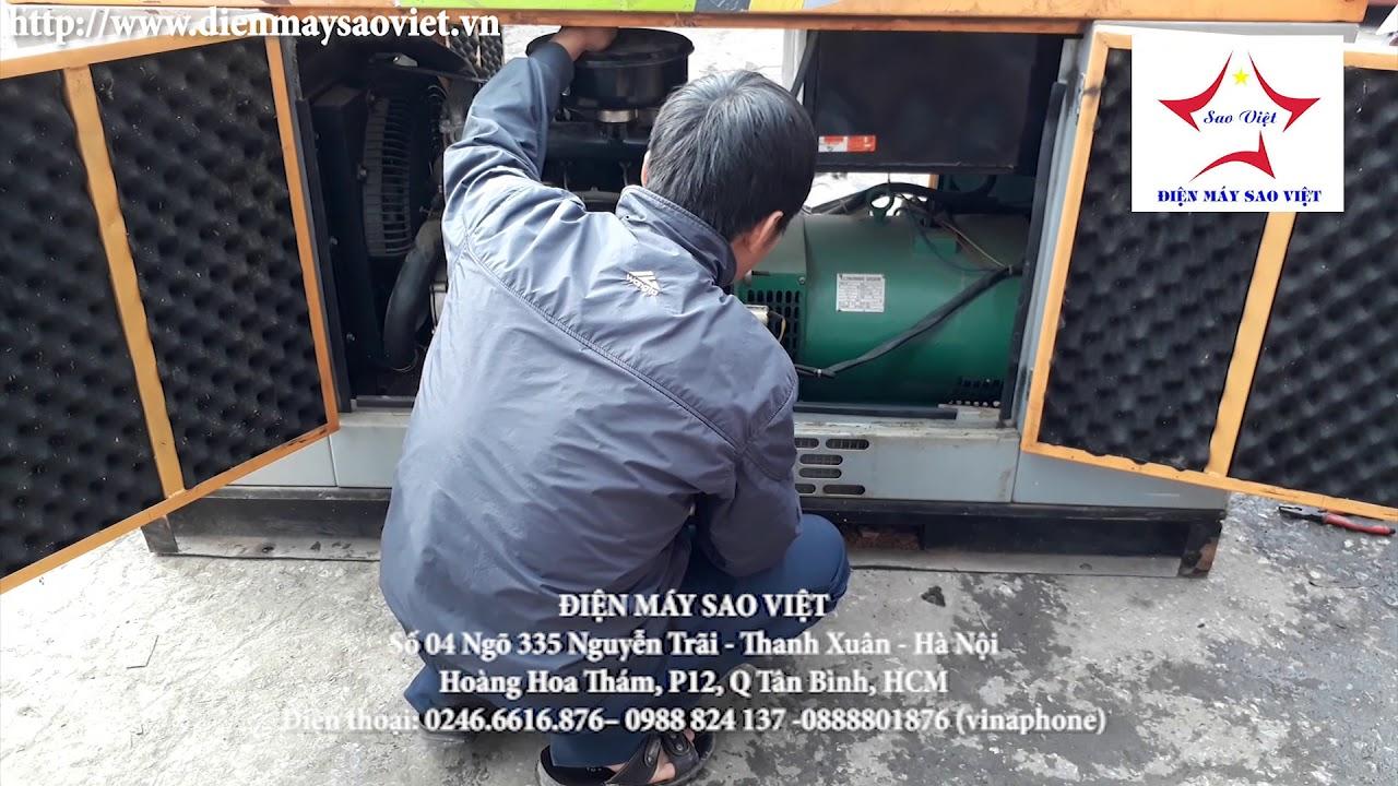 Máy phát điện chạy dầu giảm âm Bãi Cũ 10kw giá cực rẻ