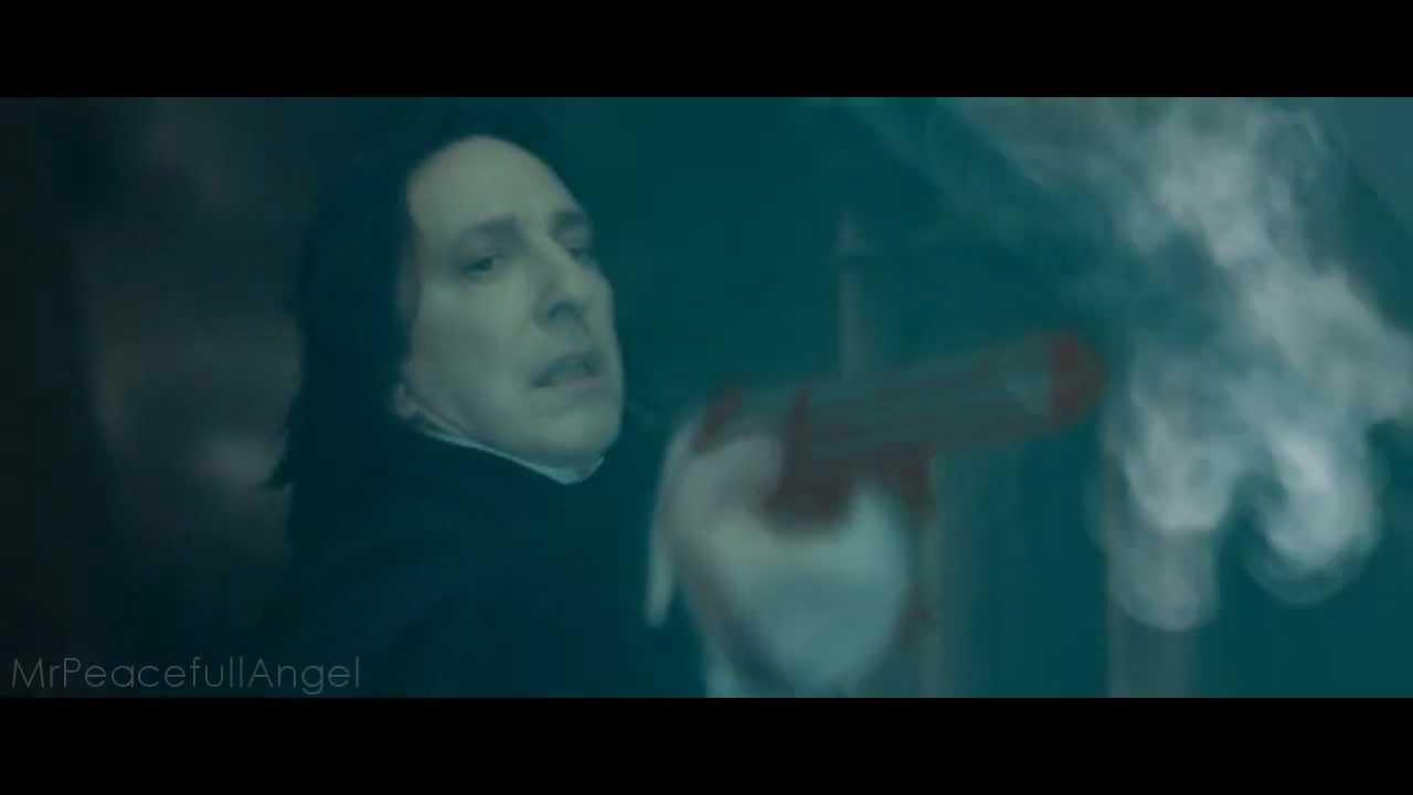 Severus Snape kills Professor Dumbledore with a gun! - YouTube Dumbledore Vs Snape