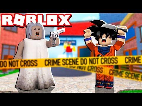 GRANNY VIROU XERIFE NO DESAFIO MURDER DO ROBLOX!! (Murder Mystery)