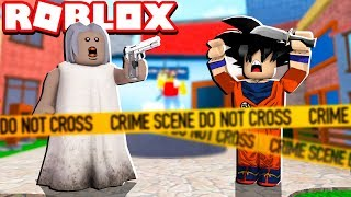 GRANNY BECAME SHERIFF IN THE MURDER CHALLENGE OF ROBLOX!! (Mystery Murder)