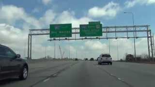 Car Camera 3x Speed - I-80 - Gretna Interchange to East Omaha, NE . 2014 ( 3倍速 州間高速道路80号線 )