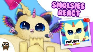 Smolsies REACT to & RECREATE Best Kids Drawings from POPJAM 🌈 Hall of Fame 🌈 TutoTOONS Games