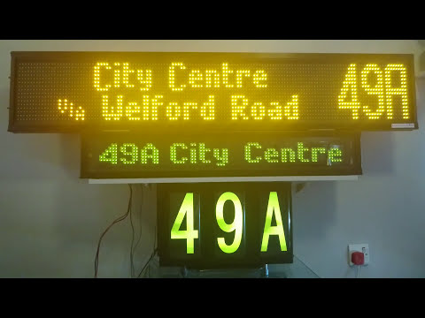 Destinations on my Bright-Tech Display Part1 (Wigston Depot)