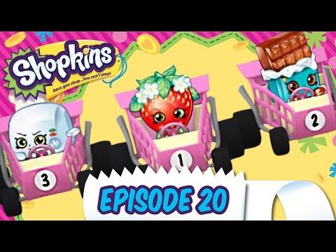"""Shopkins Cartoon - Episode 20, """"Shopping Cart Rally"""""""