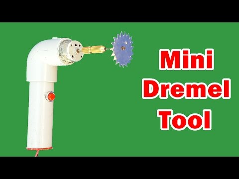 How To Make A Homemade Mini Dremel Tool - DIY Tutorial
