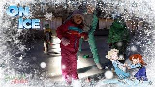 Фигурное катание дети 3 года первая тренировка Каток Крижинка Киев Ice Skating toddler on ice rink