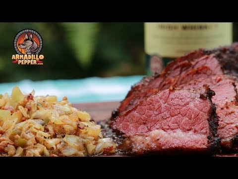 Smoked Corned Beef Brisket Recipe With Southern Fried Cabbage | Pit Barrel Cooker