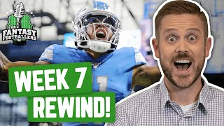 Fantasy Football 2019 - Week 7 Studs & Stinkers + Weekly Rewind, Monday Punday - Ep. #800
