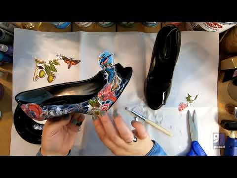 How-To: DIY Mod Podge Decoupage Shoe Makover