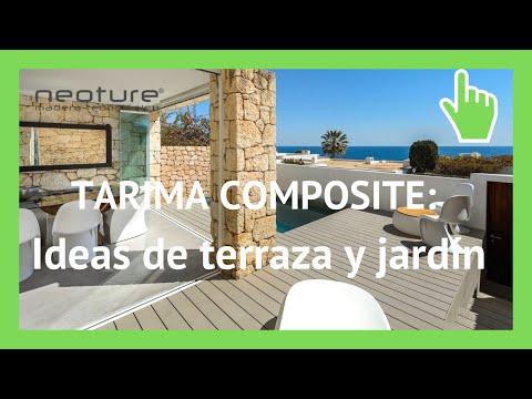 Tarima composite instalacion en terraza de jardin youtube - Tarima para terraza ...