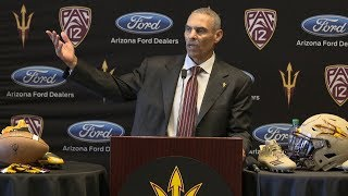 Arizona State introductory press conference of Herm Edwards