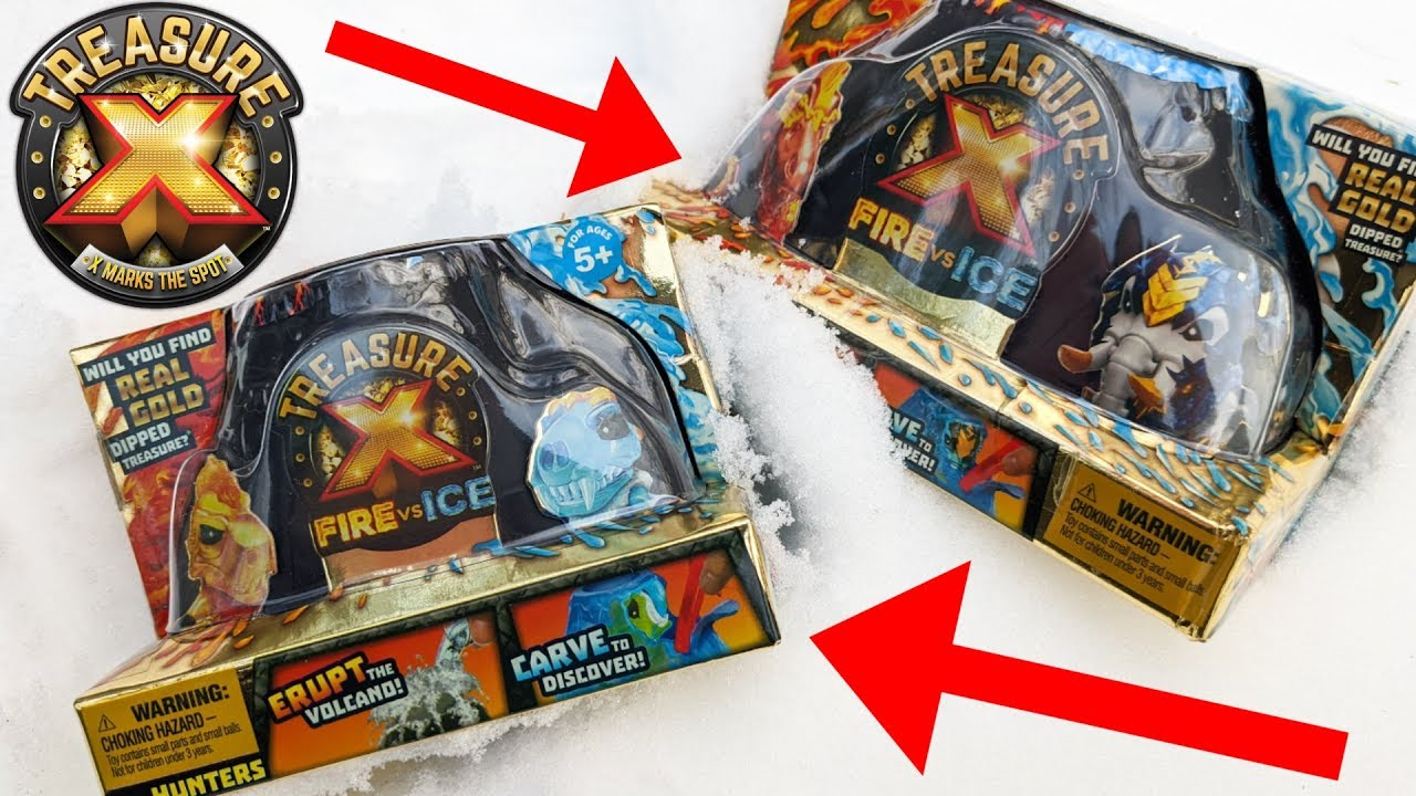 EXTREME TOY HUNTING FOR NEW TREASURE X TOYS! FIRE VS ICE!