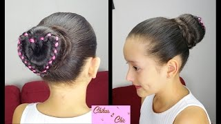 Ribbon Braided Heart Bun | Valentine's day Hairstyles | Chikas Chic