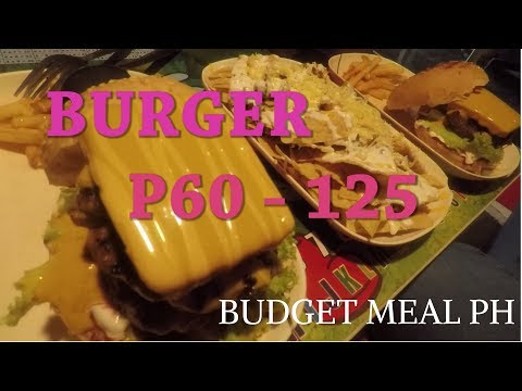 Budget Burger: Tekies Burgers and Frappe Pesos 65 - 130 in Caloocan and Sta Mesa c2017