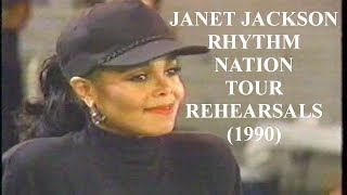Janet Jackson Rhythm Nation Tour Rehearsals on Arsenio Hall (1990)