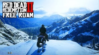Red Dead Redemption 2 - Free Roam Gameplay - Snow, Bar Fight and More! (PS4 Pro)