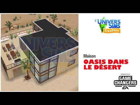 The Sims Freeplay-Maison Oasis dans le désert-Accès Anticipé