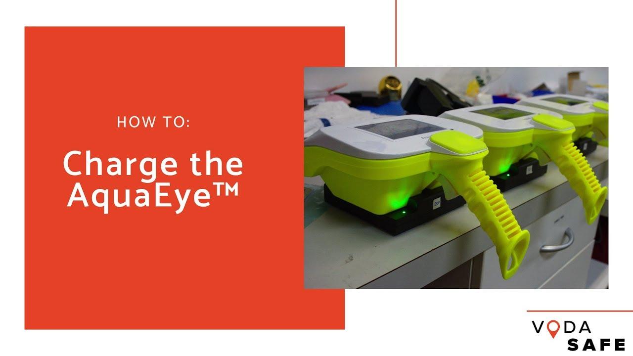 How to charge the AquaEye