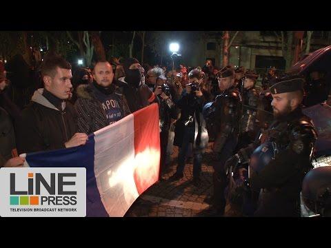 Les policiers manifestent de nouveau devant l'Elysée / Paris - France 20 octobre 2016