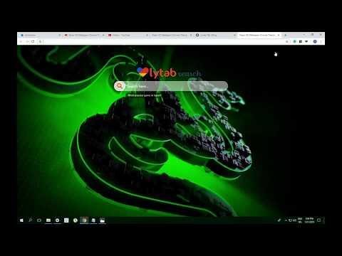 Razer HD Wallpaper Chrome Theme