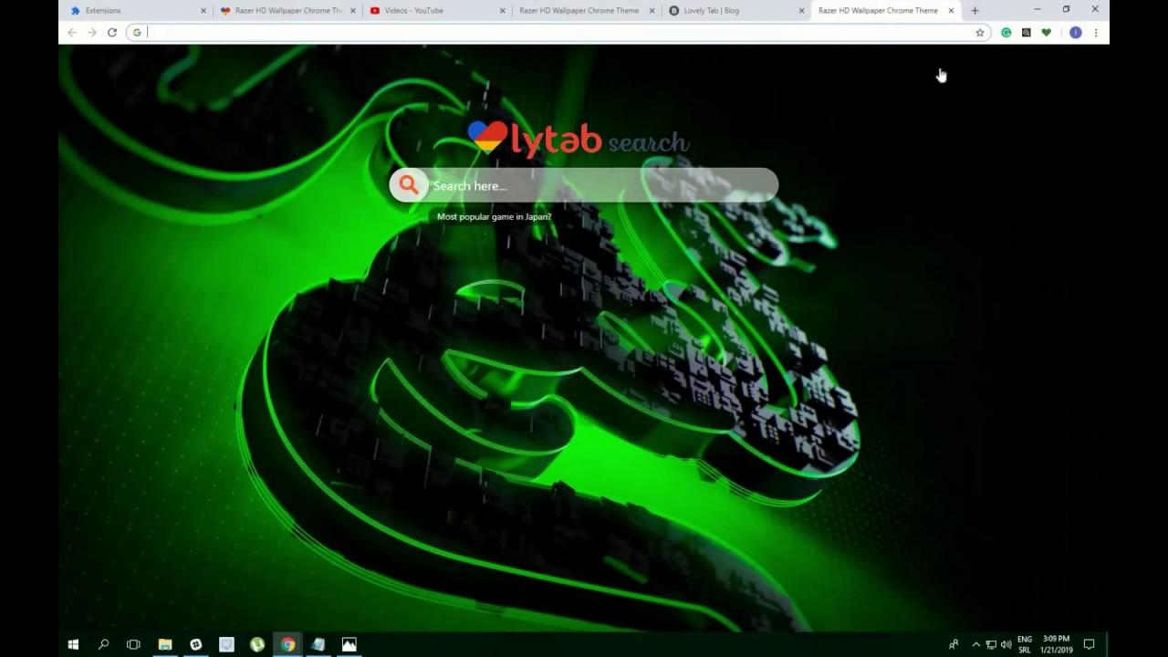 Cool Razer Gaming Hd Wallpaper Theme For Chrome
