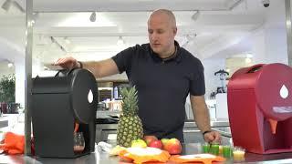 Julavie Juicer:  Making Strawberry Juice in Harrods