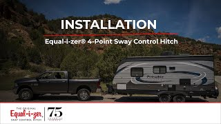 Installation -- Equal-i-zer® 4-Point Sway Control™ Trailer Hitch