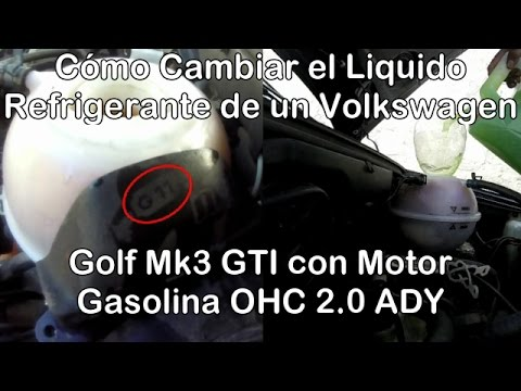 Cómo Cambiar El Liquido Refrigerante De Un Volkswagen Golf Mk3 GTI Motor ADY